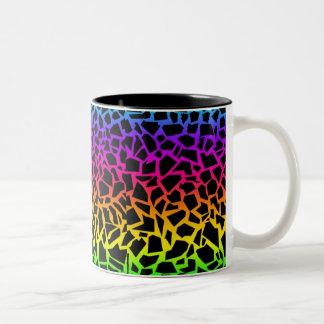 Rainbow animal print mug