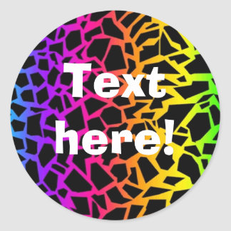 Rainbow animal print sticker