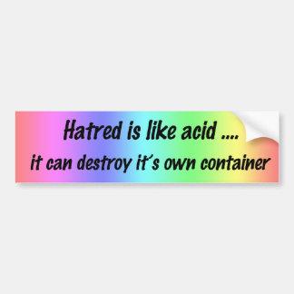 Rainbow Anti Hate Bumper Sticker