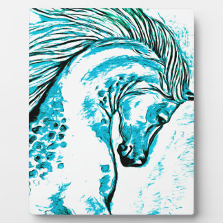 Rainbow Arabian Manga Teal Plaque
