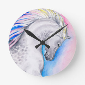 Rainbow Arabian Round Clock