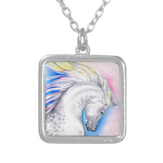 Rainbow Arabian Silver Plated Necklace