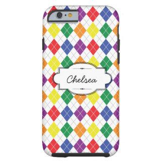 Rainbow Argyle Custom iPhone 6 Tough Case