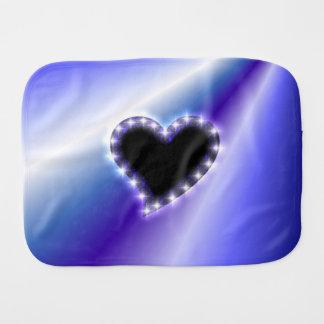 Rainbow Art , Heart with Stars Burp Cloth