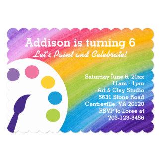 Rainbow Art Party Invitation