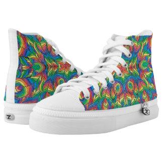 Rainbow art shoes