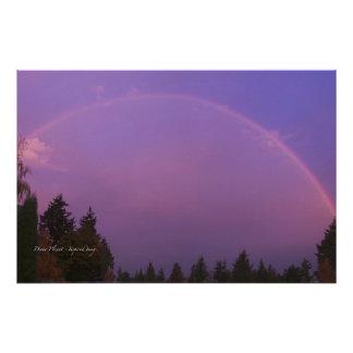 Rainbow at Dawn Art Photo