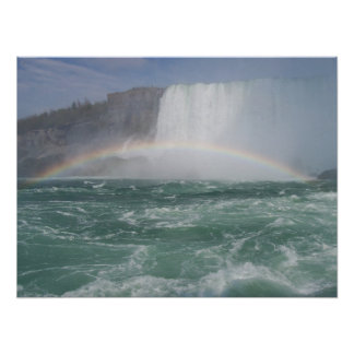 Rainbow At NiagaraFalls Poster