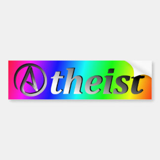 Rainbow Atheist Flag Bumper Sticker