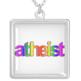 Rainbow Atheist Silver Plated Necklace