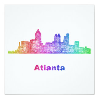 Rainbow Atlanta skyline Card