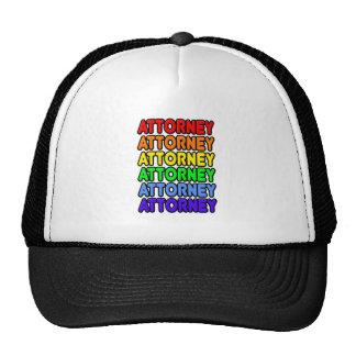 Rainbow Attorney Trucker Hat