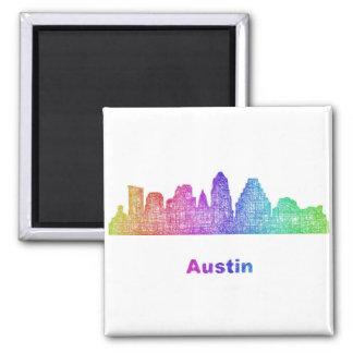 Rainbow Austin skyline Magnet
