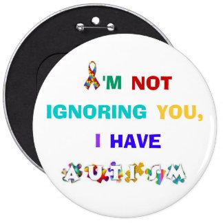 Rainbow Autism Awareness Button