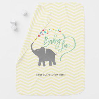 Rainbow Baby, Elephant Baby Love Baby Blanket
