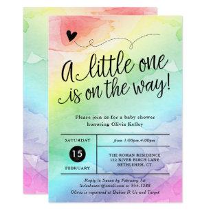 Baby shower invitations announcements zazzle au rainbow baby shower gender neutral watercolor invitation filmwisefo