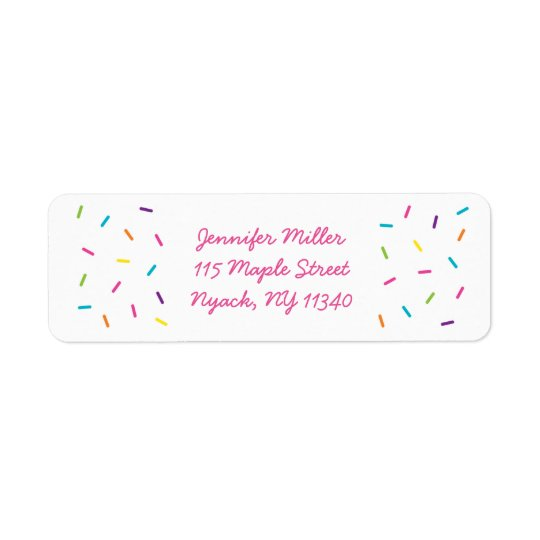 Rainbow Baby Sprinkle Address Labels