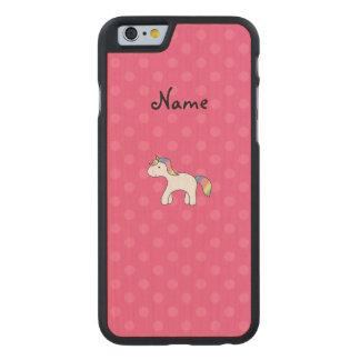 Rainbow baby unicorn pink polka dots carved® maple iPhone 6 slim case