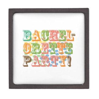 rainbow bachelorette party bridal wedding funky premium trinket boxes