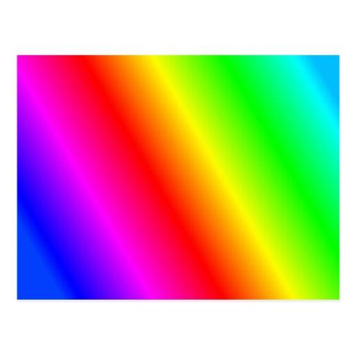 Rainbow Background Postcard