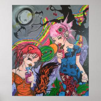 'Rainbow Bacon & Juice' Poster