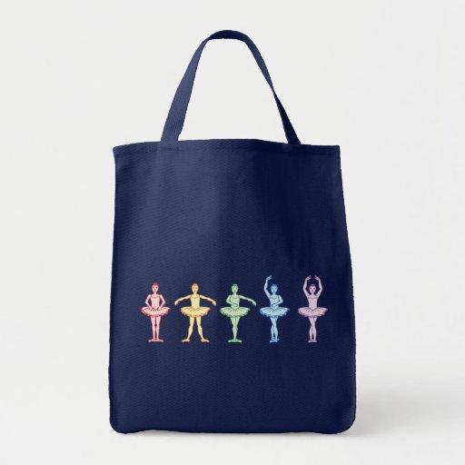 Rainbow Ballerinas Tote Bags