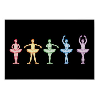 Rainbow Ballerinas Posters