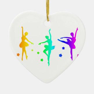 Rainbow Ballet Ceramic Ornament