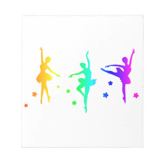 Rainbow Ballet Notepads