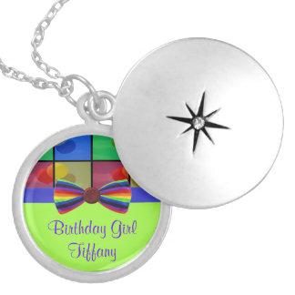 Rainbow Balloon Birthday Celebration Necklace