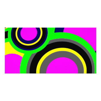 Rainbow Balls Custom Photo Card