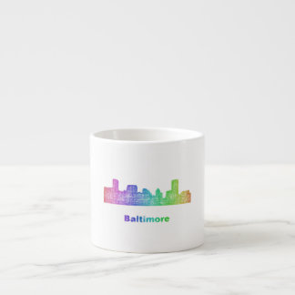 Rainbow Baltimore skyline Espresso Cup