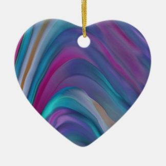 Rainbow Bands product line Ceramic Heart Decoration