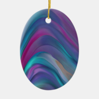 Rainbow Bands product line Ceramic Oval Decoration