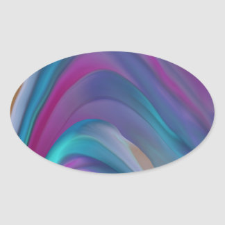 Rainbow Bands product line Oval Sticker
