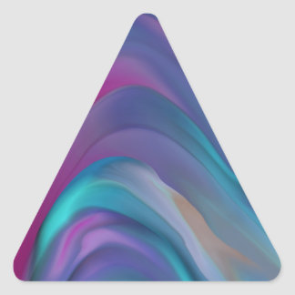 Rainbow Bands product line Triangle Sticker