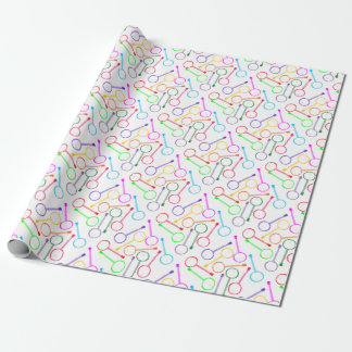 rainbow banjo wrapping paper