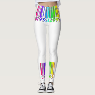 Rainbow Bar Code Leggings