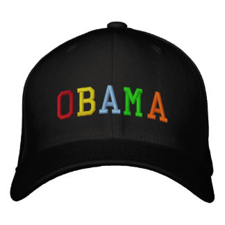 Rainbow Barack Obama Embroidered Baseball Cap