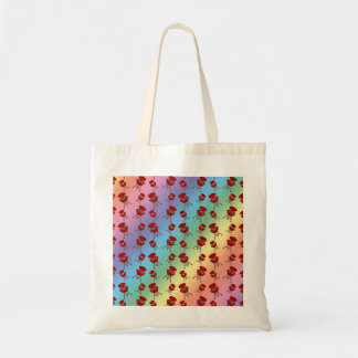 rainbow barbeque pattern bag