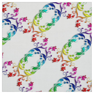 rainbow baroque element fabric