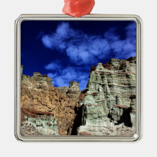 Rainbow Basin Silver-Colored Square Decoration