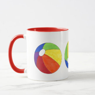 Rainbow Beach Ball Beachball Vacation Ocean Summer Mug