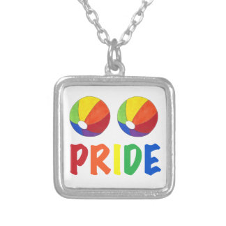 Rainbow Beach Ball LGBT Gay PRIDE Necklace