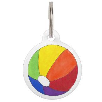 Rainbow Beach Ball LGBT Summer Pride Dog Pet Tag