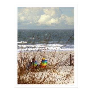 Rainbow Beach Chairs Postcards
