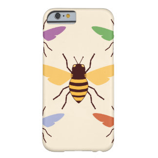 Rainbow bees bumblebees vintage insect pattern barely there iPhone 6 case
