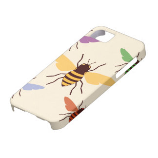 Rainbow bees bumblebees vintage insect pattern case for the iPhone 5