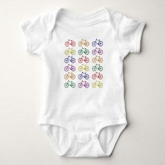 Rainbow Bicycles Baby Bodysuit
