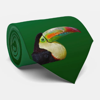 Rainbow-Billed Tou Can Do It Tie Dbl Sided (Green)